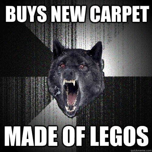 buys new carpet MADE OF LEGOS - buys new carpet MADE OF LEGOS  Insanity Wolf