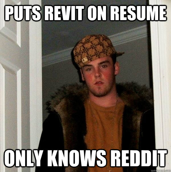 PUTS REVIT ON RESUME ONLY KNOWS REDDIT - PUTS REVIT ON RESUME ONLY KNOWS REDDIT  Scumbag Steve