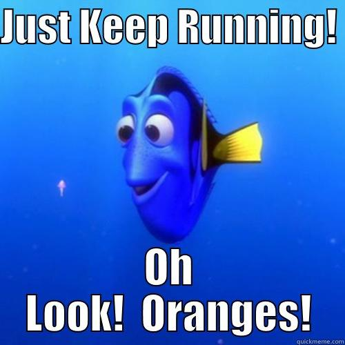 Kat Runs DC - JUST KEEP RUNNING!  OH LOOK!  ORANGES! dory