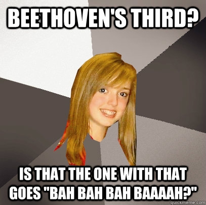 beethoven s third is that the one with that goes bah bah bah