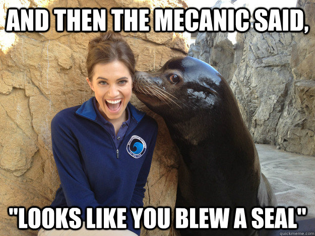 And then the mecanic said,