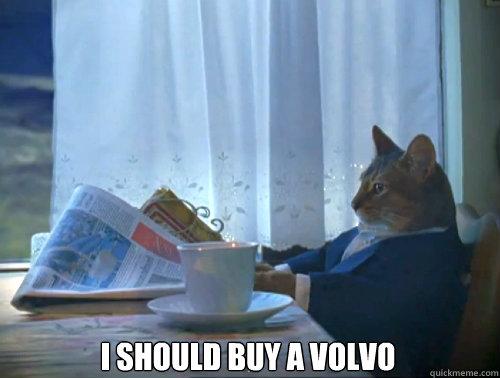 I should buy a Volvo  - I should buy a Volvo   The One Percent Cat