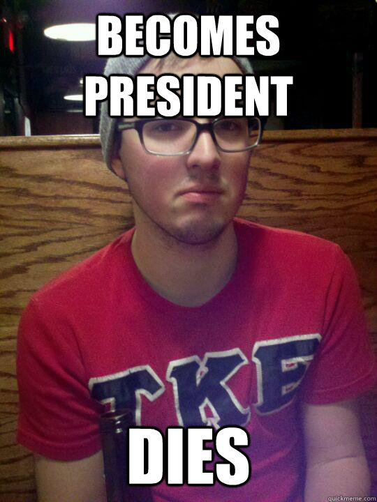Becomes President Dies