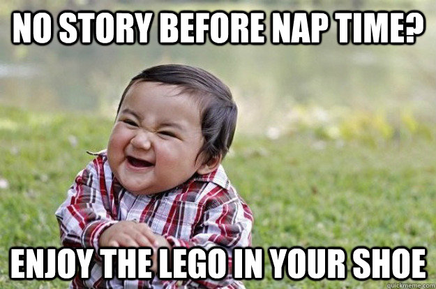 No story before nap time? enjoy the lego in your shoe - No story before nap time? enjoy the lego in your shoe  Misc