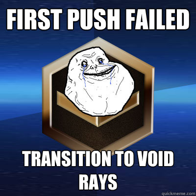 First Push Failed Transition to Void Rays