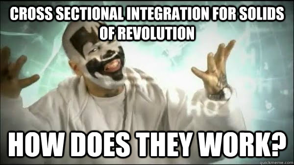 cross sectional integration for solids of revolution HOW DOES they WORK?