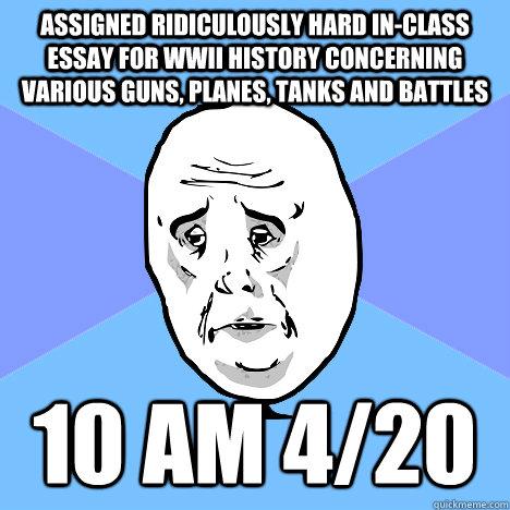 Quick In-class Essays?