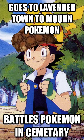 Goes To Lavender Town To Mourn Pokemon Battles Pokemon In Cemetary