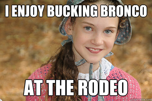 i enjoy bucking bronco at the rodeo