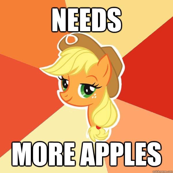 Needs More apples - Needs More apples  Applejack