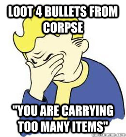 Loot 4 Bullets from corpse