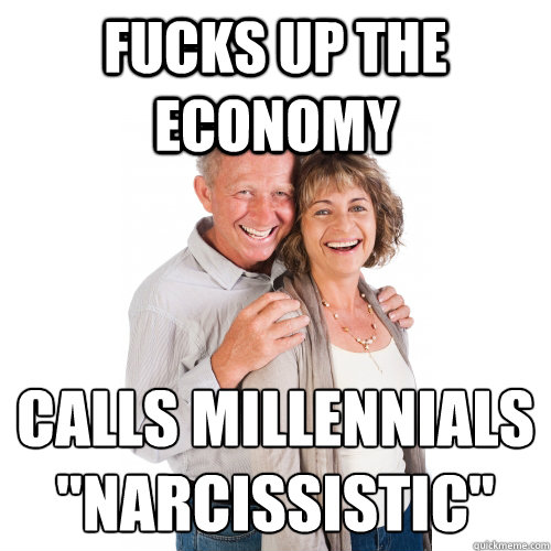 Fucks up the economy calls millennials