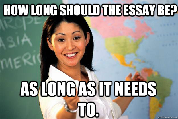 How Long Should An Essay Be