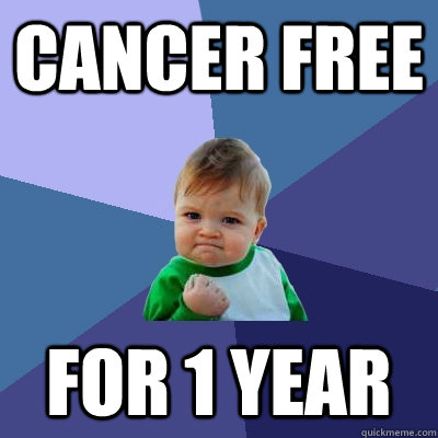 Cancer free For 1 year - Cancer free For 1 year  Success Kid