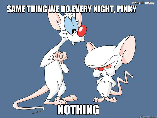 SAME THING WE DO EVERY NIGHT, PINKY nOTHING - SAME THING WE DO EVERY NIGHT, PINKY nOTHING  Pinky and the Brain
