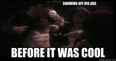 Showing off his abs  Before it was cool - Showing off his abs  Before it was cool  Hipster Joe