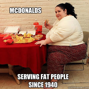 Funny Memes About Fat People fat person mcdonalds M...