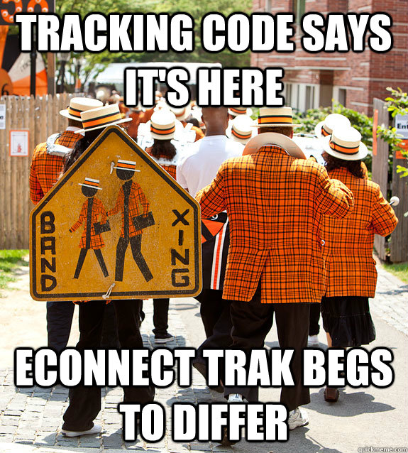 tracking code says it's here econnect trak begs to differ