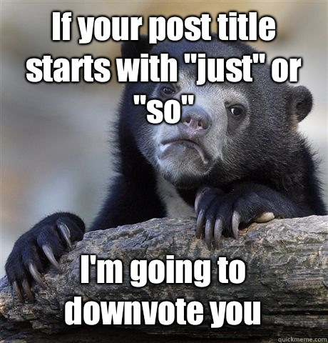 If your post title starts with