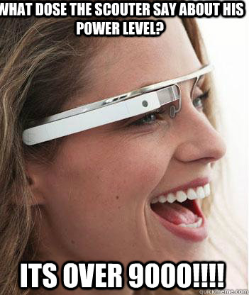 What dose the scouter say about his power level? ITS OVER 9000!!!!