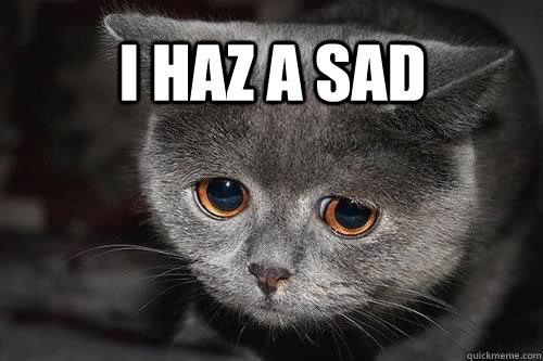 Image result for i haz a sad