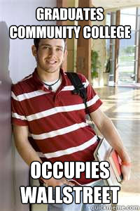 Graduates Community College occupies wallstreet  Community College Freshmen