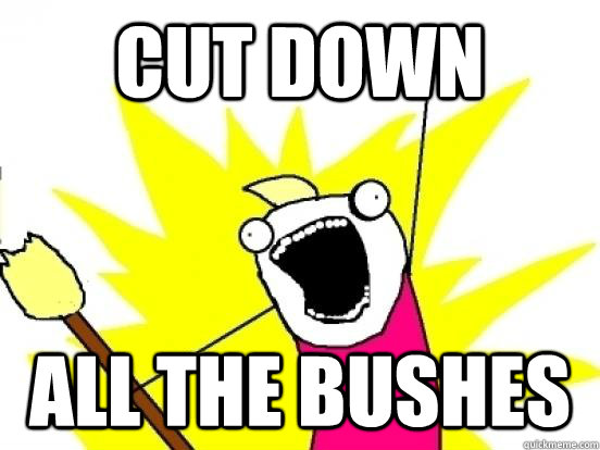 CUT DOWN ALL THE BUSHES - CUT DOWN ALL THE BUSHES  ALL THE PEOPLE