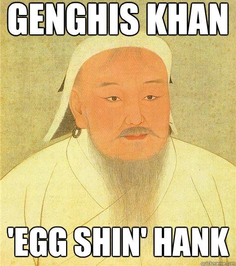 Genghis Khan 'egg shin' hank  Historic Anagrams
