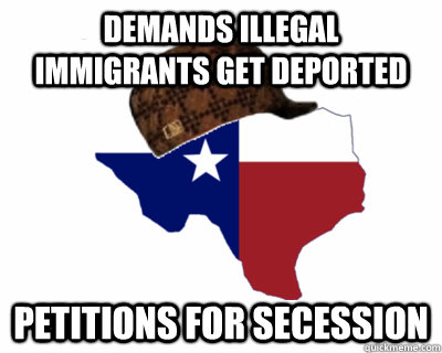 demands illegal immigrants get deported petitions for secession