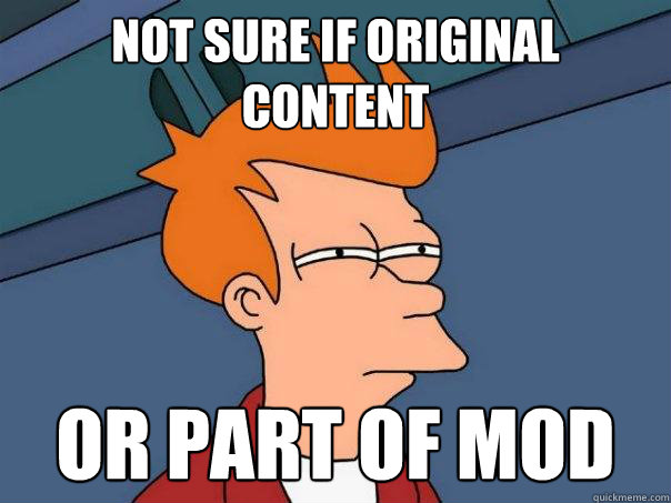 Not sure if original content or part of mod - Not sure if original content or part of mod  Futurama Fry