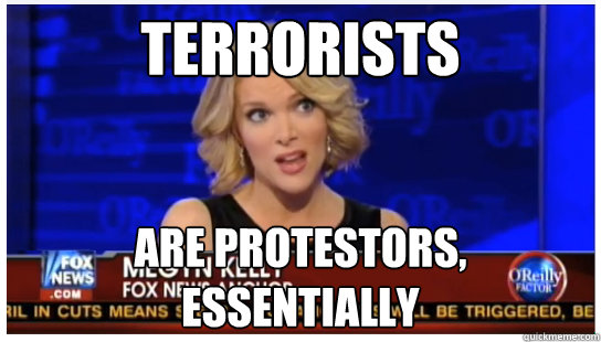 Terrorists are protestors, essentially