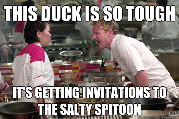 THIS DUCK IS SO TOUGH  IT'S GETTING INVITATIONS TO THE SALTY SPITOON  - THIS DUCK IS SO TOUGH  IT'S GETTING INVITATIONS TO THE SALTY SPITOON   Misc