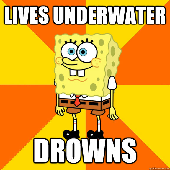 lives underwater drowns