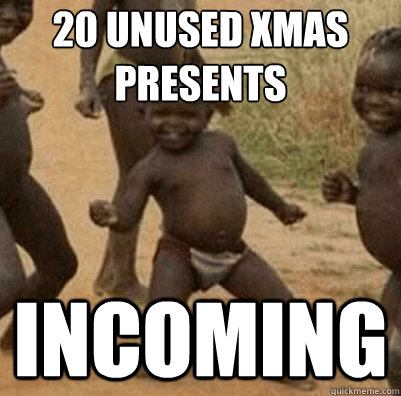 20 unused xMAS presents incoming