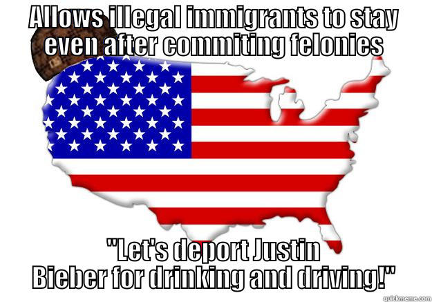 ALLOWS ILLEGAL IMMIGRANTS TO STAY EVEN AFTER COMMITING FELONIES