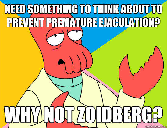 Need something to think about to prevent premature ejaculation? why not zoidberg?  Futurama Zoidberg