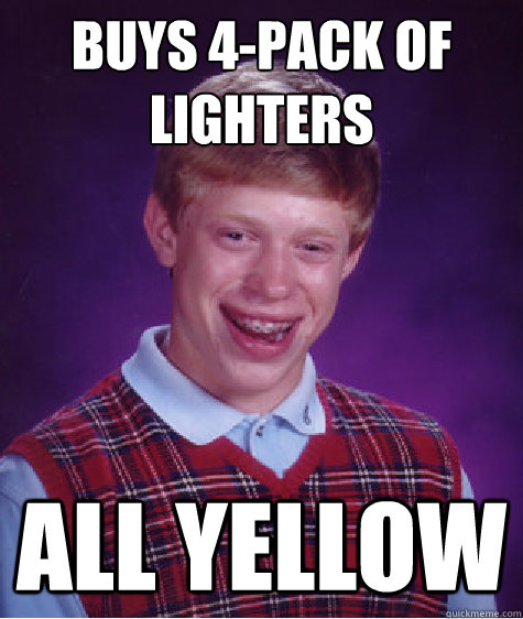 buys 4-pack of lighters all yellow - buys 4-pack of lighters all yellow  Misc