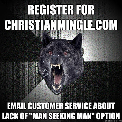 register for christianmingle.com email customer service about lack of