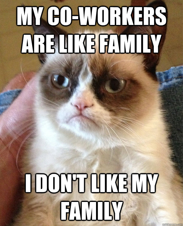 my co-workers are like family I don't like my family - my co-workers are like family I don't like my family  Misc