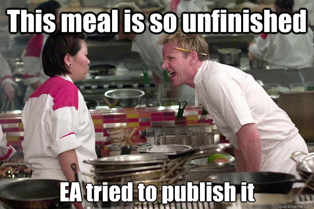 This meal is so unfinished EA tried to publish it Caption 3 goes here - This meal is so unfinished EA tried to publish it Caption 3 goes here  Misc