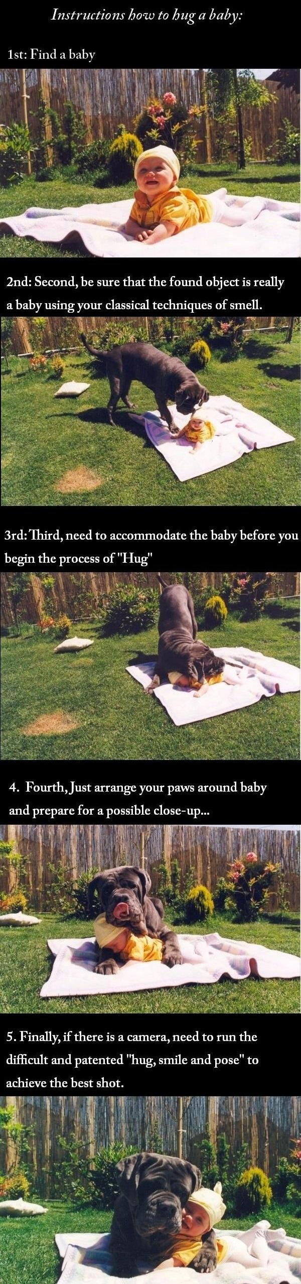 Instructions How To Hug A Baby