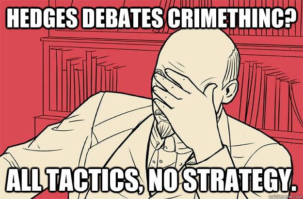 Hedges debates crimethinc? All tactics, no strategy.