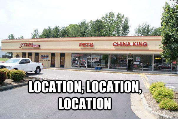Location, location, location - Location, location, location  Location