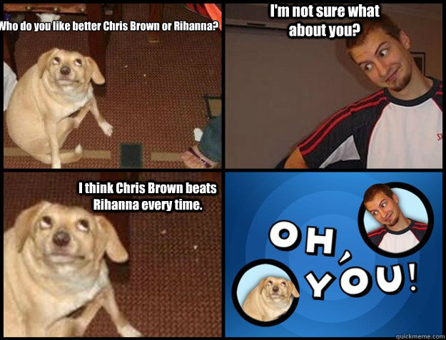 Who do you like better Chris Brown or Rihanna? I'm not sure what about you? I think Chris Brown beats Rihanna every time.