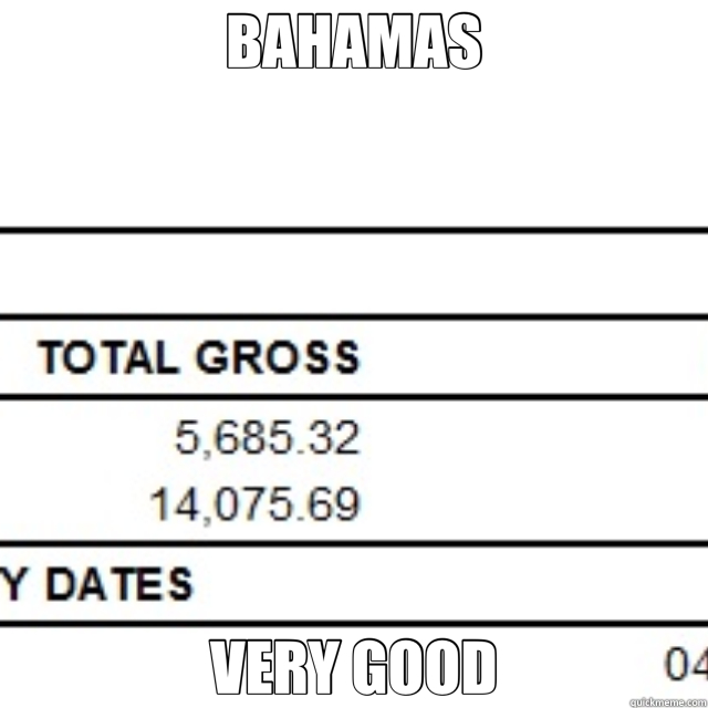 BAHAMAS VERY GOOD