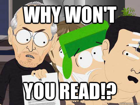 Why won't  you read!? - Why won't  you read!?  Why Wont You Read!