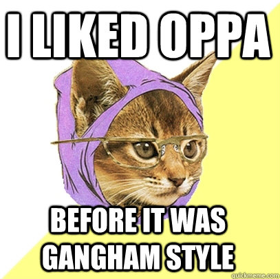 I liked oppa before it was gangham style - I liked oppa before it was gangham style  Hipster Kitty