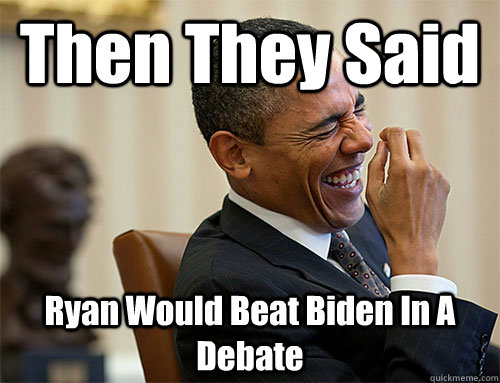 Then They Said Ryan Would Beat Biden In A Debate