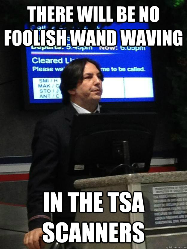 There will be no foolish wand waving in the TSA scanners