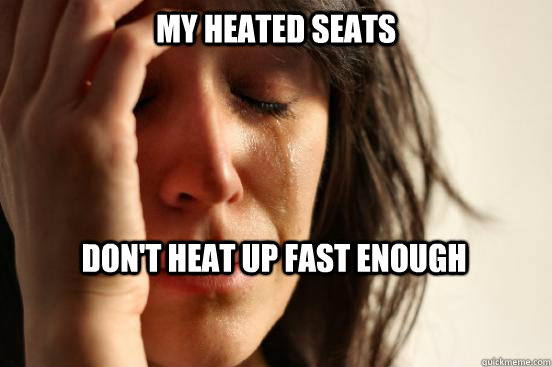My heated seats don't heat up fast enough - My heated seats don't heat up fast enough  First World Problems
